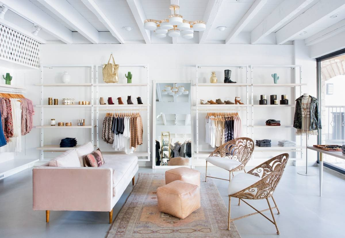 Pink and White Shop interior