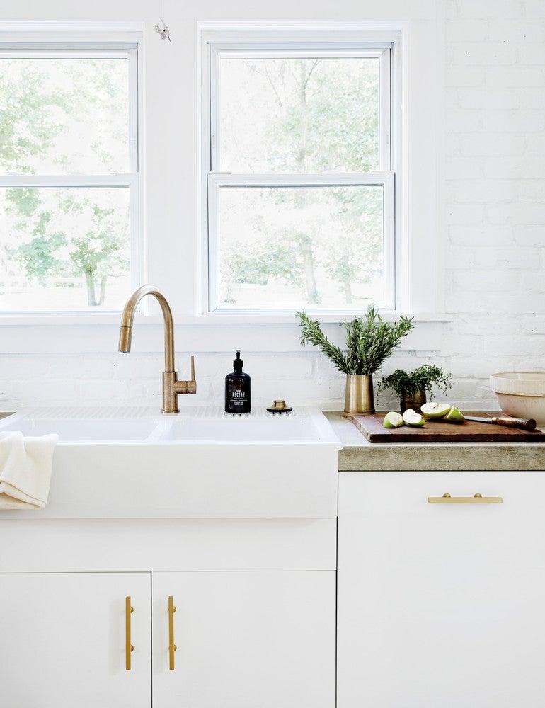 Bronze and White Kitchen