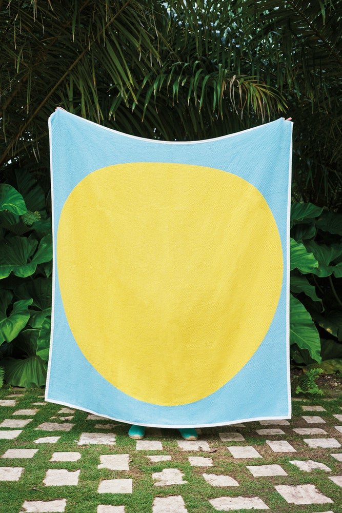 Green and Yellow Outdoor blanket