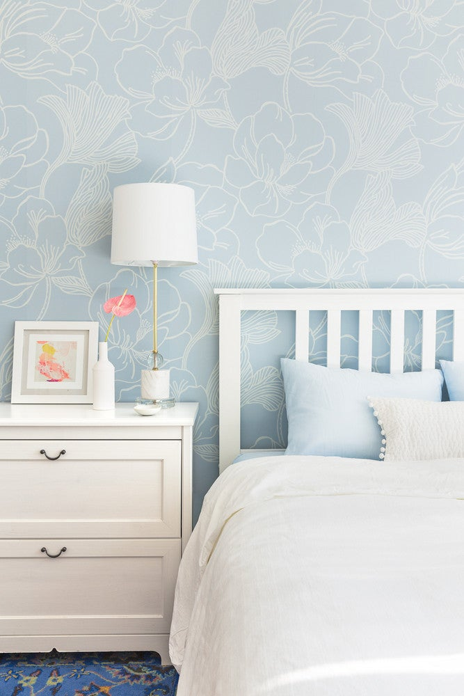 How I Completely Upgraded My Rental With a Fresh Coat of Paint and a Pop of Wallpaper