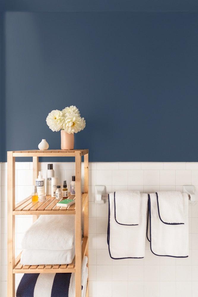 stiffkey blue farrow and ball molger ikea shel bathroom