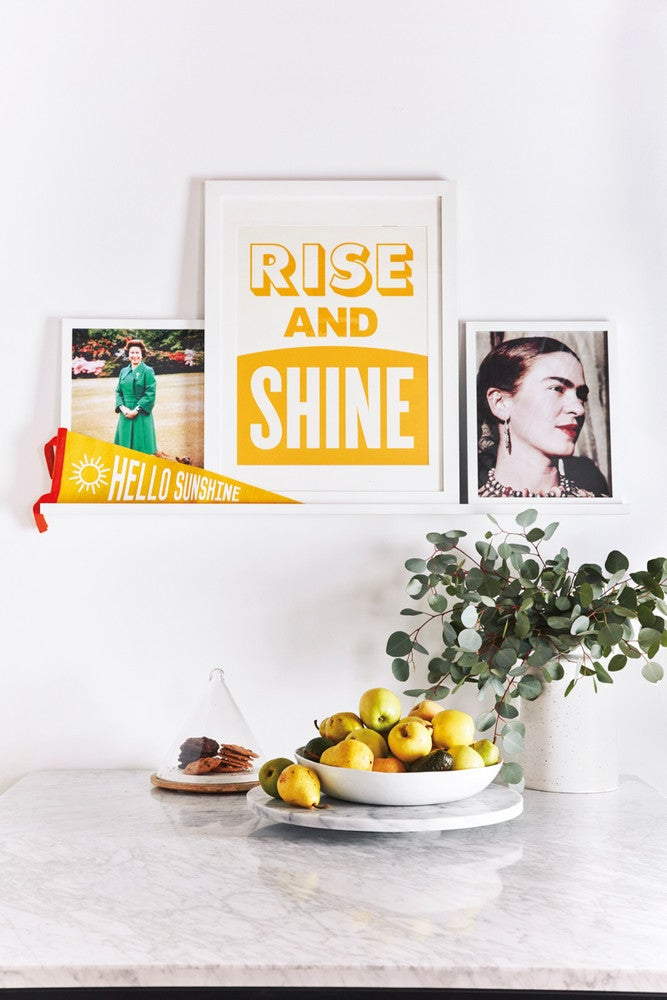 White and Yellow Vignette