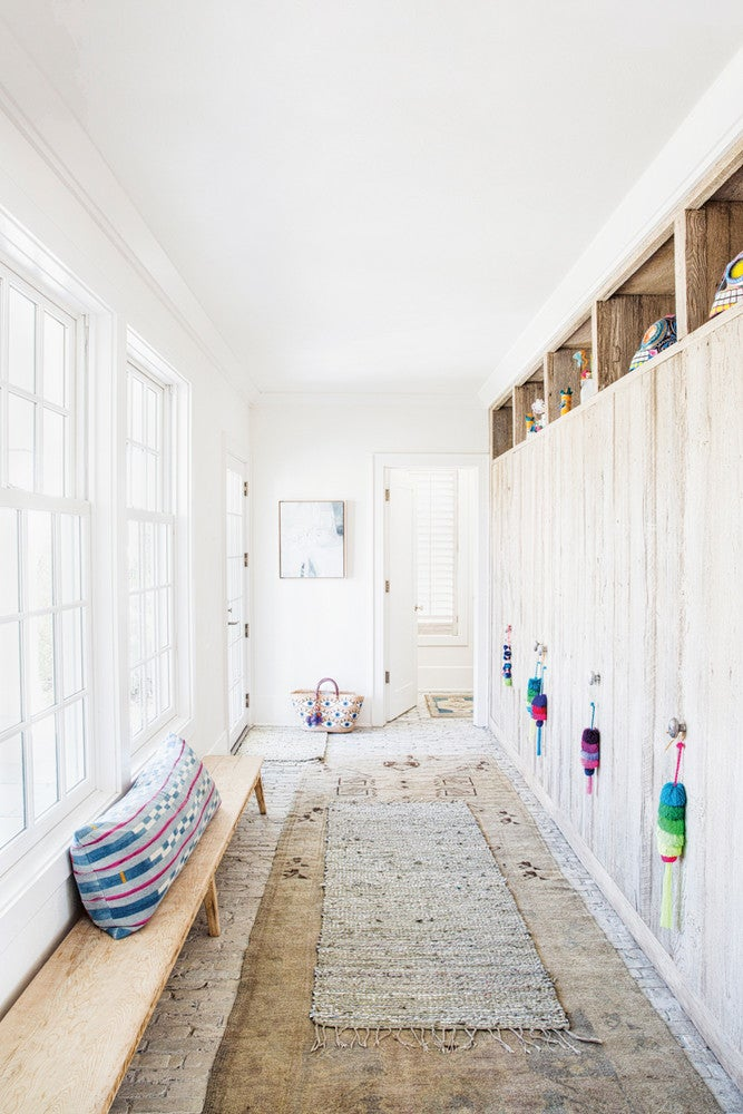 Taupe and White Closet