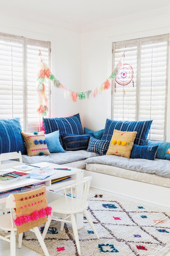 Blue and White Playroom