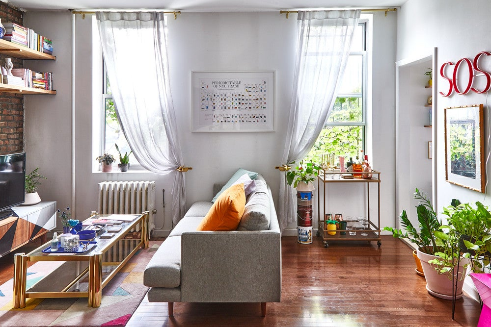 Inside Our Social Media Editor's Primary-Colored, 650-Square-Foot Apartment