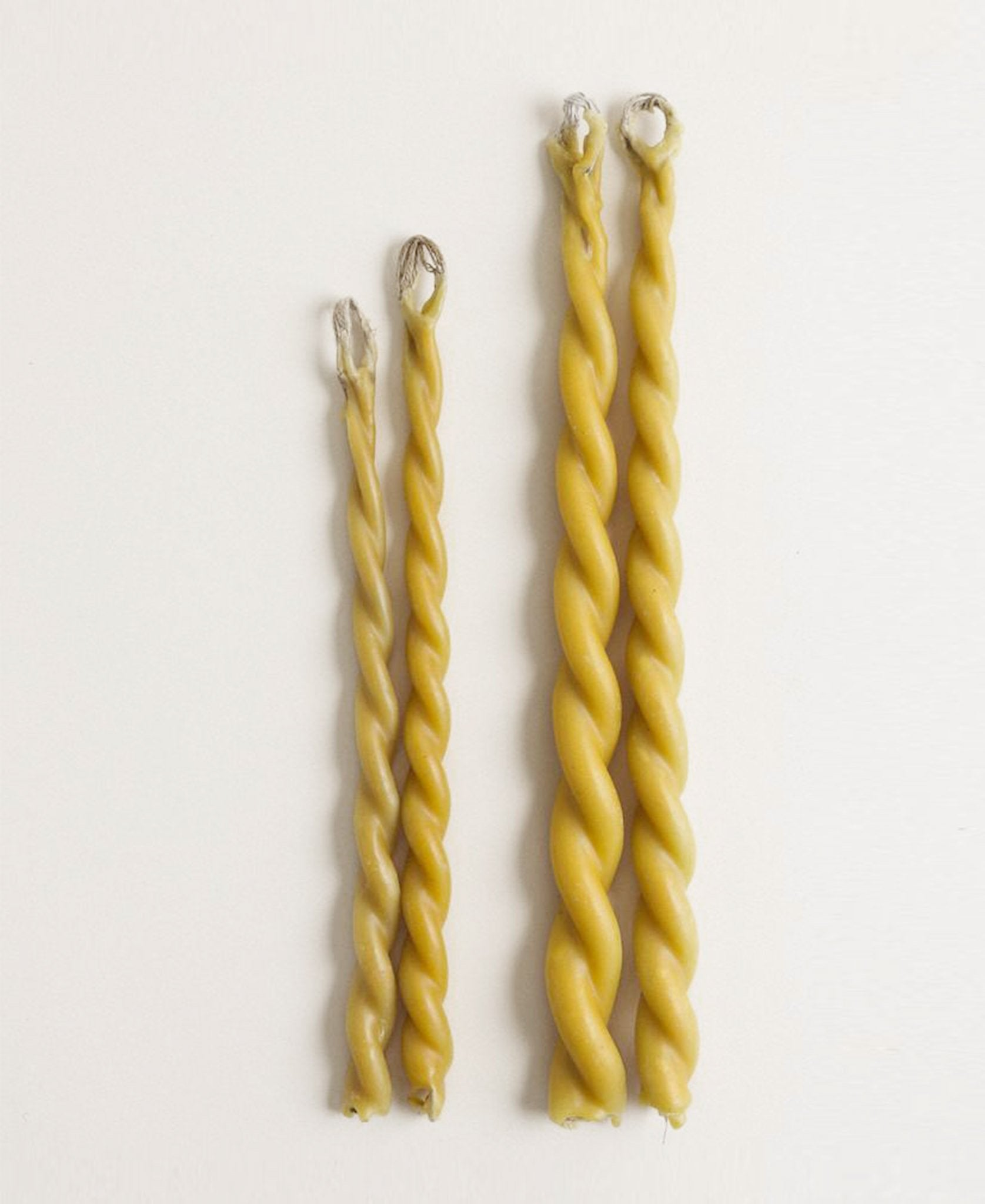 twisted yellow candles