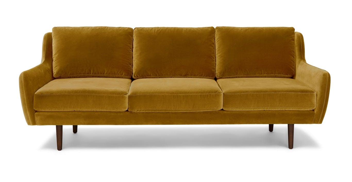 gold velvet sofa