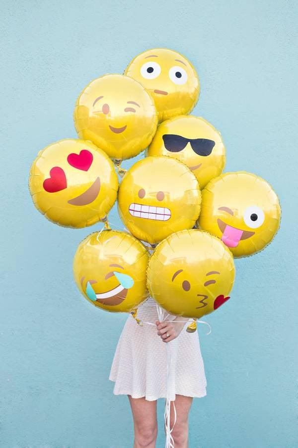 Summer Birthday Party Ideas Emoji Balloons