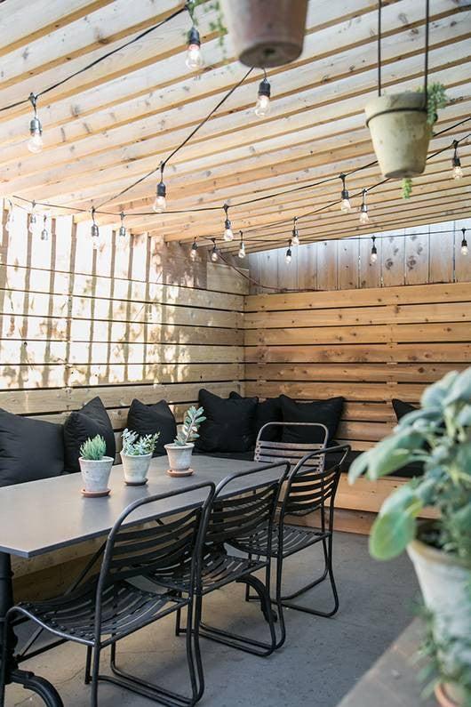 Patio String Light Ideas Victoria Smith SFgirlbybay patio