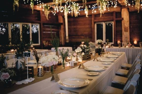 Patio String Light Ideas Wedding Reception Ideas