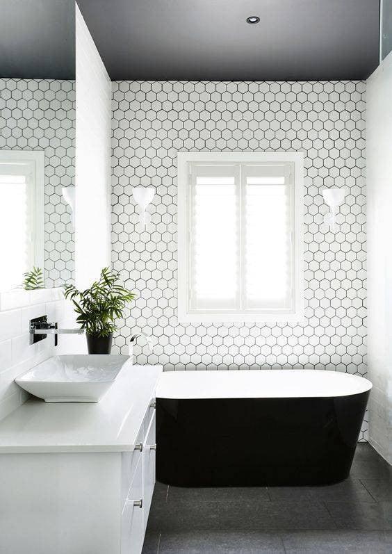 minimalist bathroom white bathroom with black tub