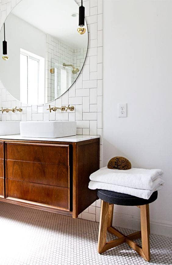 minimalist bathroom white bathroom with oak vanity