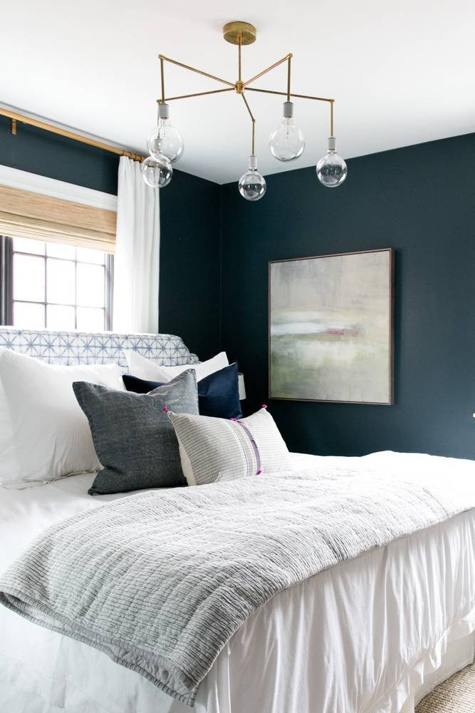 Best Bedroom Decor of 2017- bold wall color