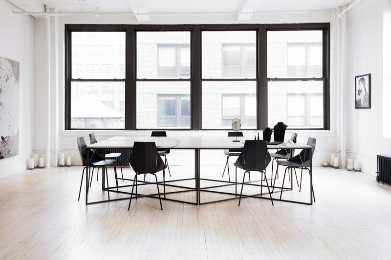 white marble conference room