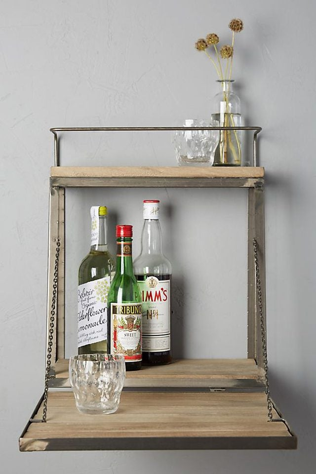 New Ways To Display Home Bar Items – Liquor Shelf Trend