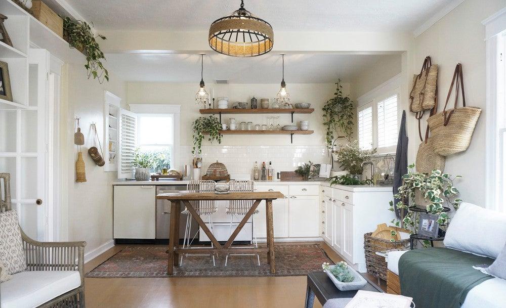 sunny open floorplan living room
