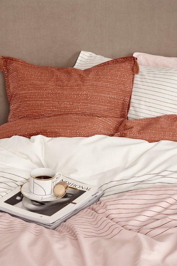 coral bedding set H&M Home