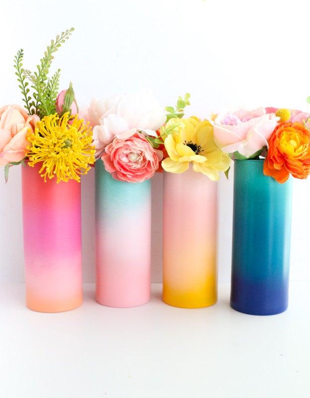 colorful gradient vases