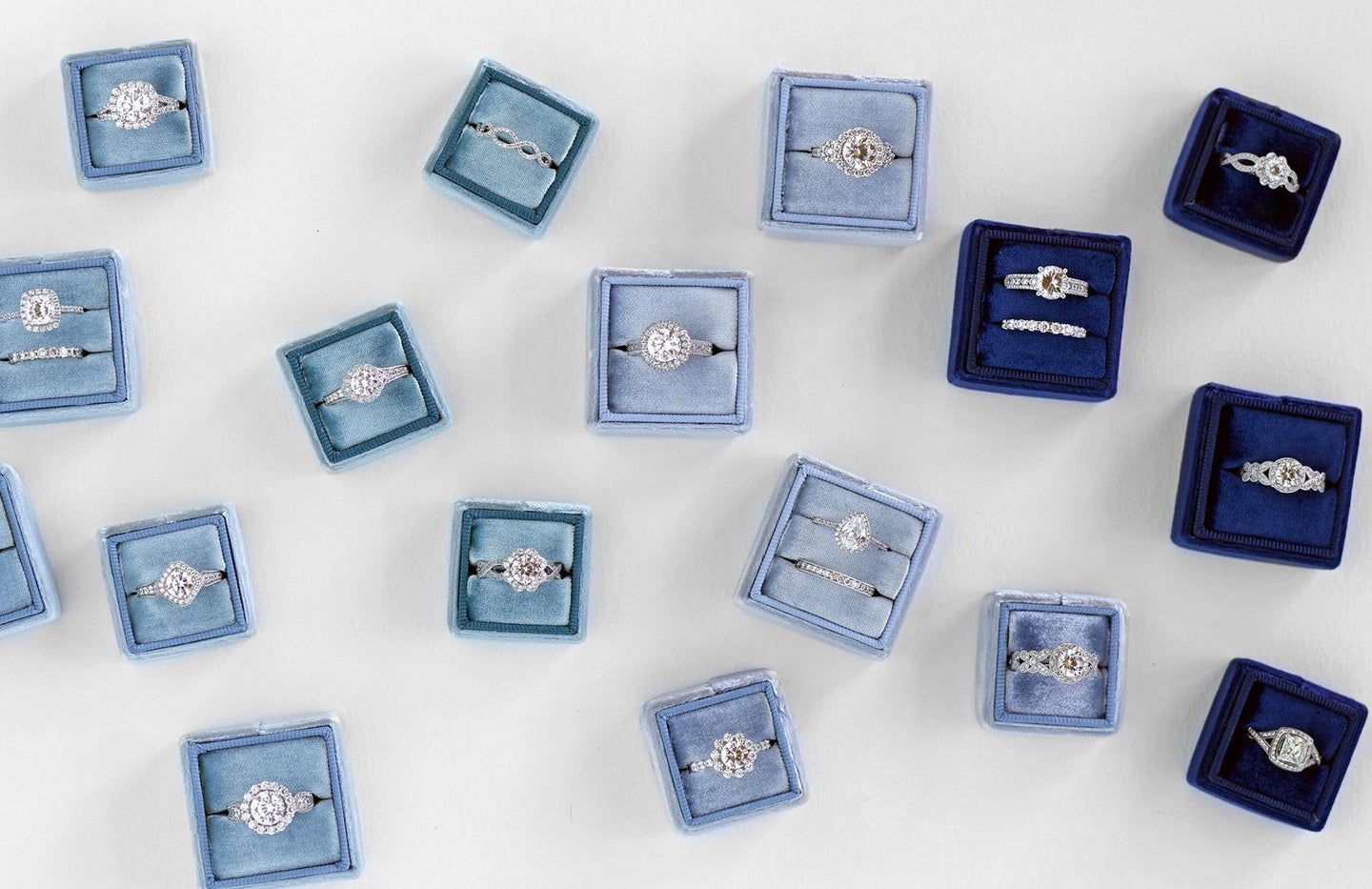 ombre wedding ring boxes
