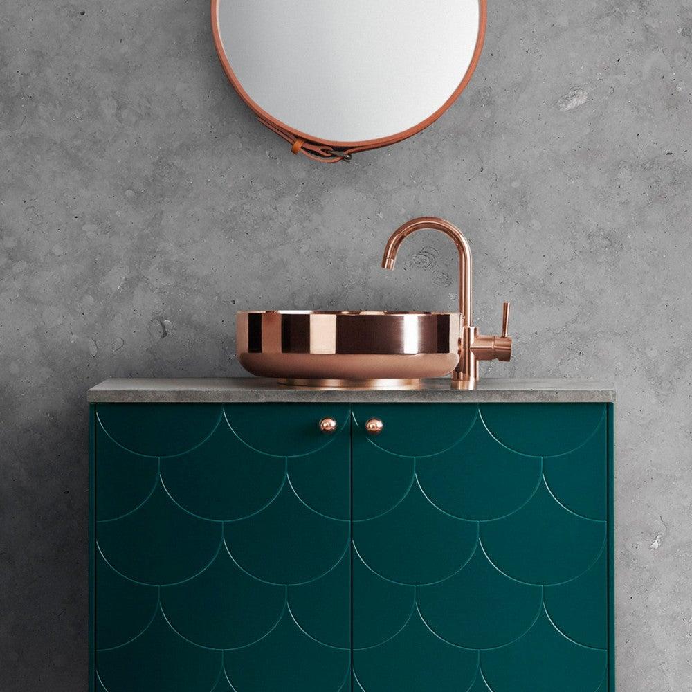 superfront-vanity-unit-bathroom-big-fish-pattern-bottle-green-copper-sink-tap-handle-limestone-top_2.jpg