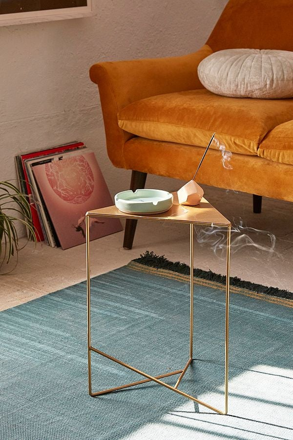 triangle accent table living room