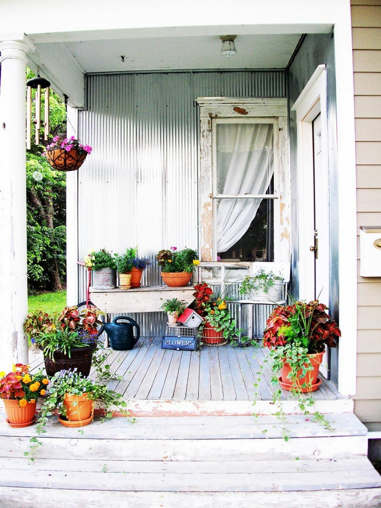 The Floral-Filled Porch Gardens We're Pinning Right Now