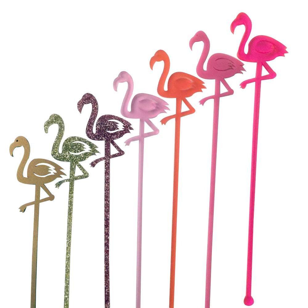 entertaining items flamingo drink stirrers