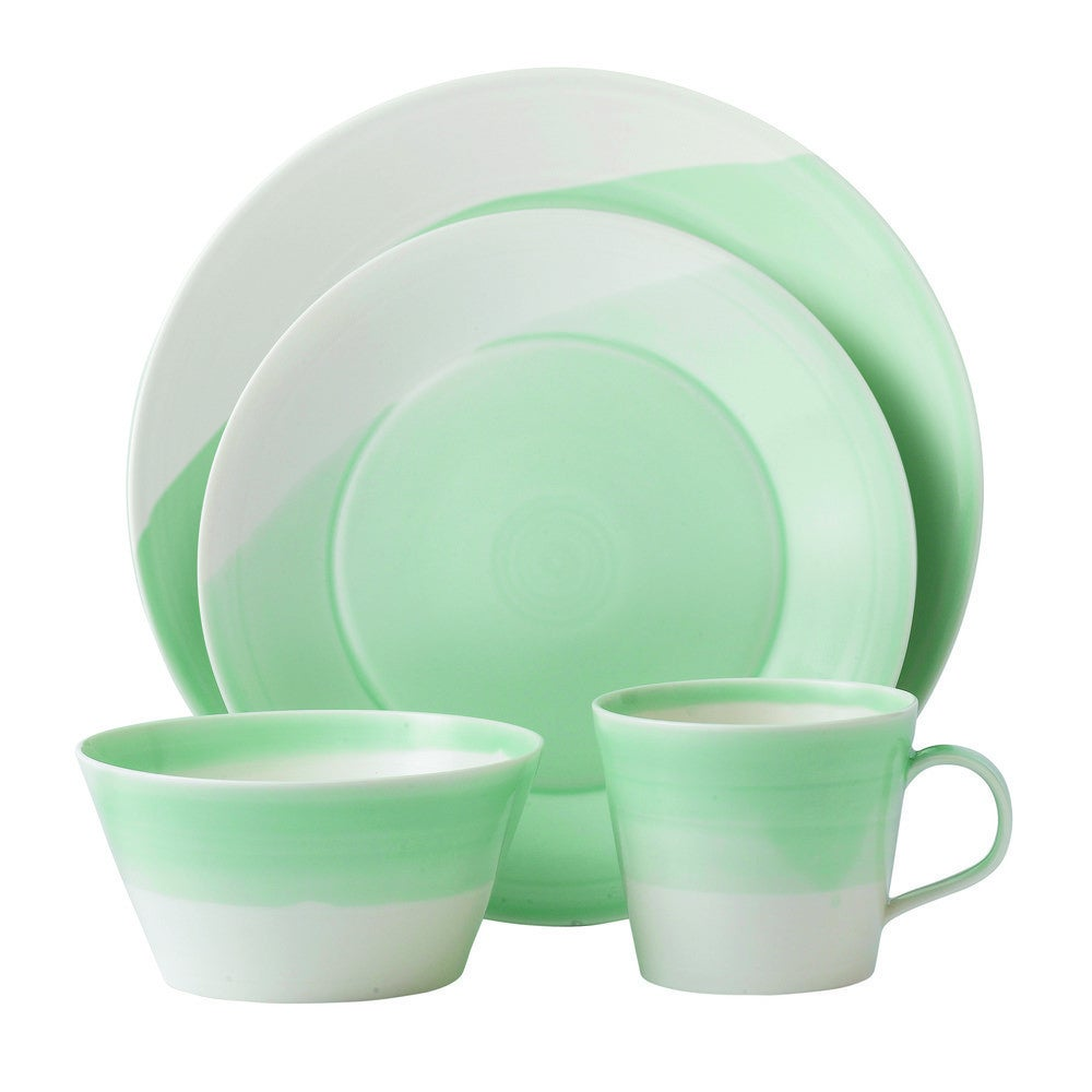 entertaining items green place setting