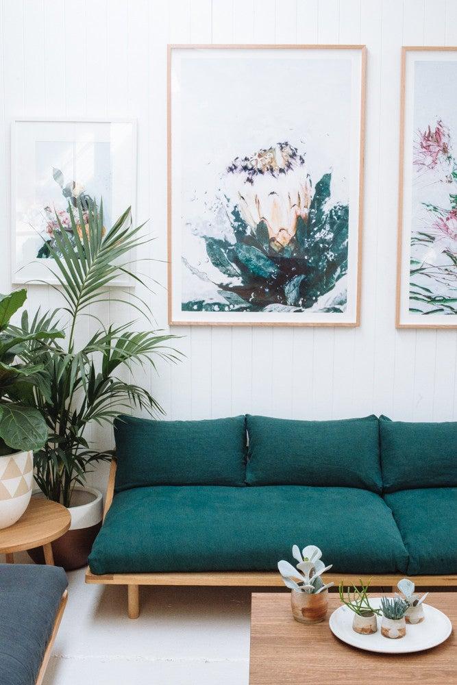 10 Teal Home Decor Ideas- statement sofa