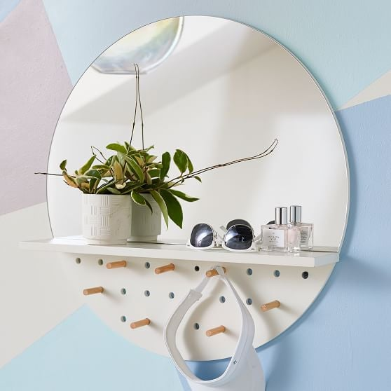 Everything We Want From PB Teen x Ivivva's New Dorm Decor Collection - Accessories Storage Mirror