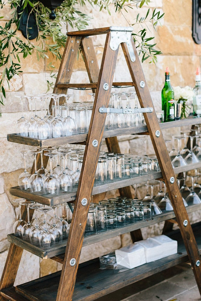 Outdoor Decorating Ideas For Summer - DIY bar cart