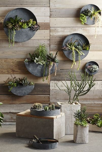 Outdoor Decorating Ideas For Summer - planter gallery wall