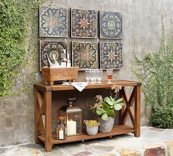 Outdoor Decorating Ideas For Summer - create a gallery wall