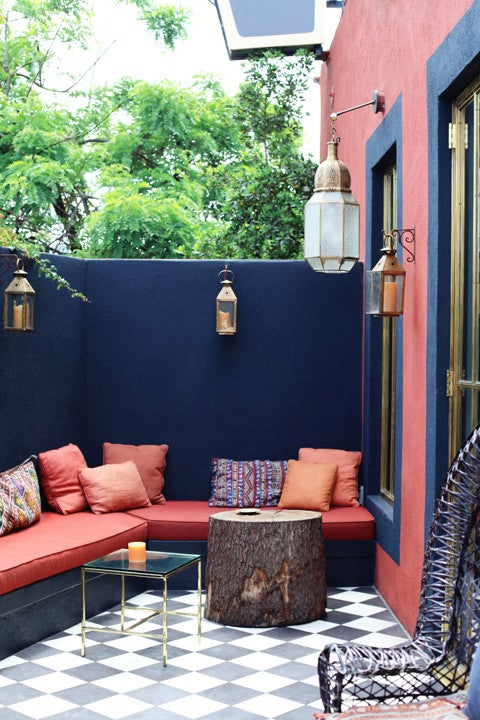 patterned tile outdoor space