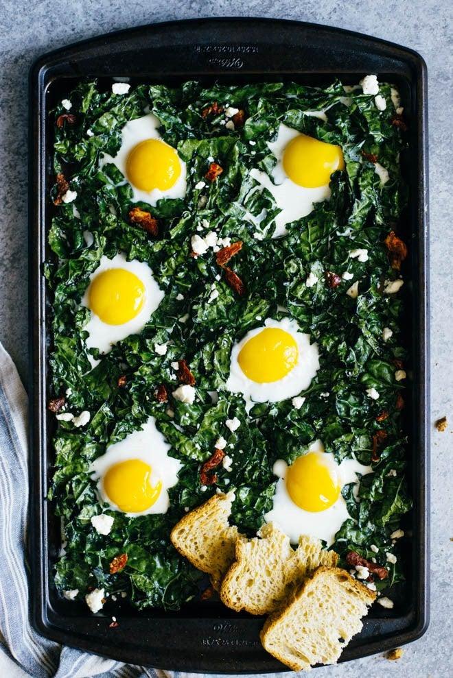 kale and egg bake