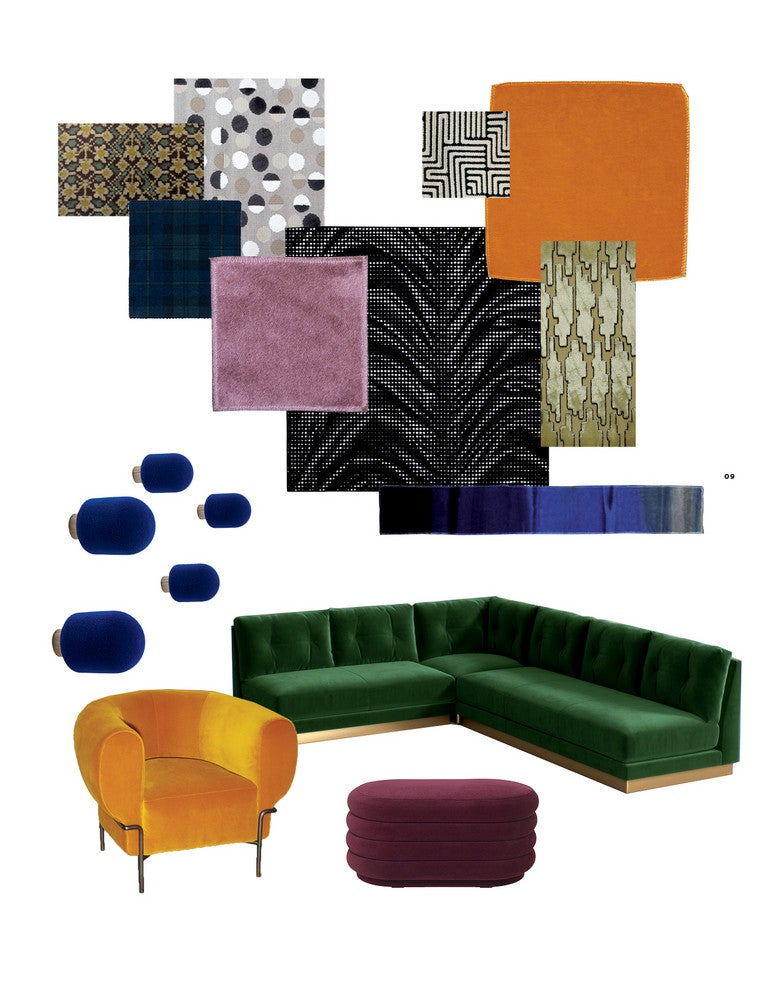 velvet items for the home