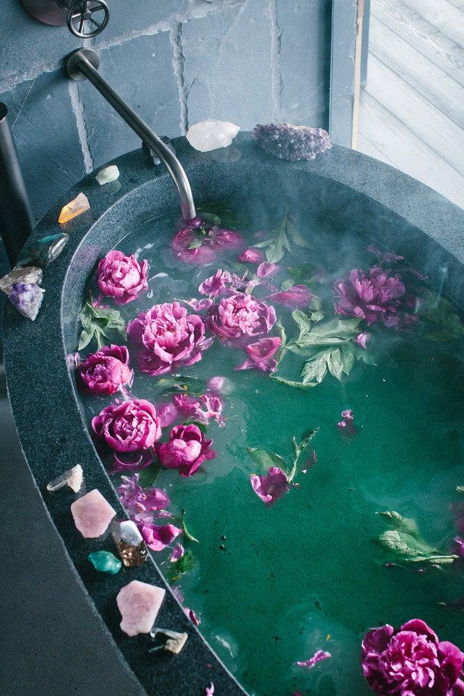 DIY at home spa bath