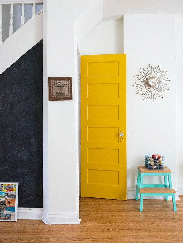 yellow colorful door