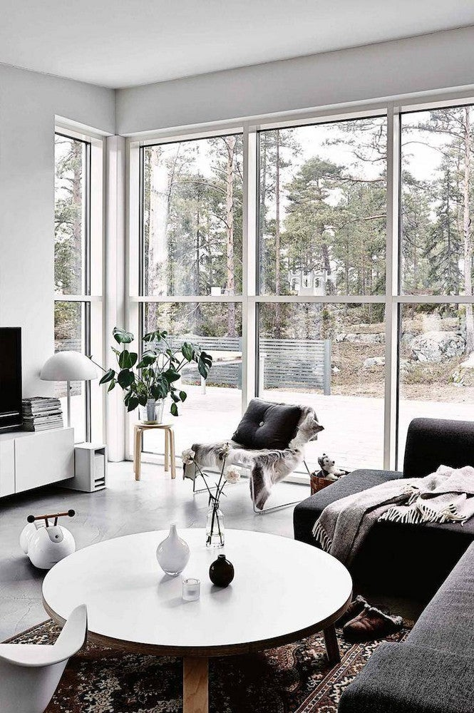 27 Black and White Living Room Decor Ideas | Domino