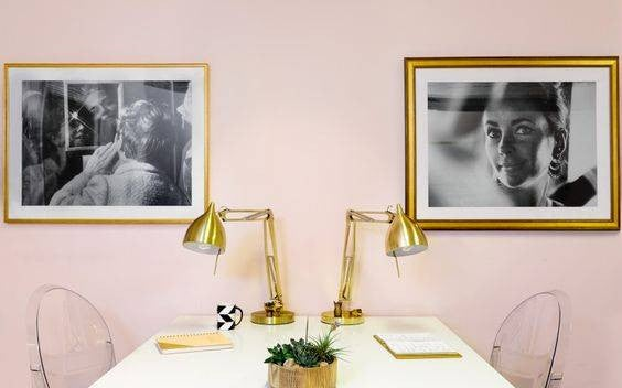 Shared Home Office Ideas pink office