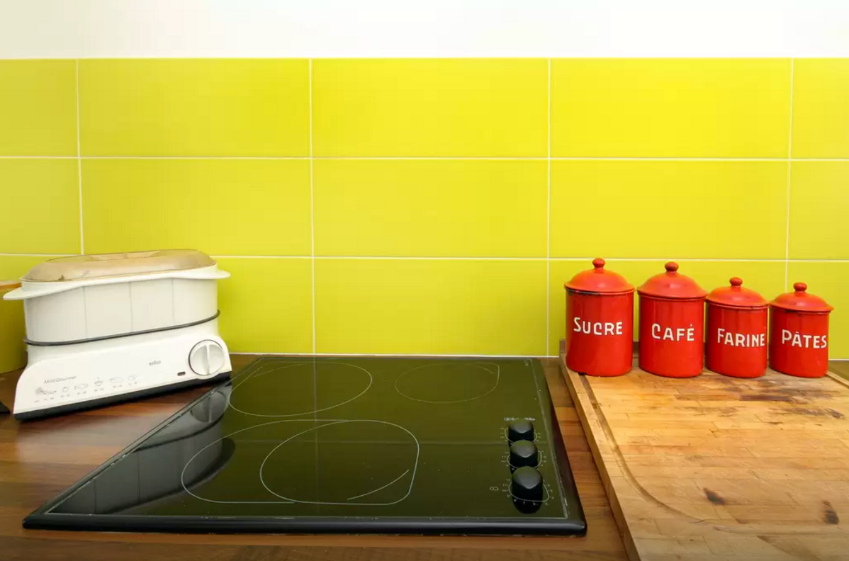 Colorful Kitchen Backsplashes Bright Yellow