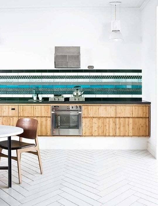 Colorful Kitchen Backsplashes Teal Gren White Black Backsplash