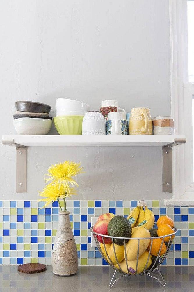 Colorful Kitchen Backsplashes Blue Green Tile
