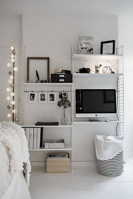 small bedroom decor ideas modular shelf