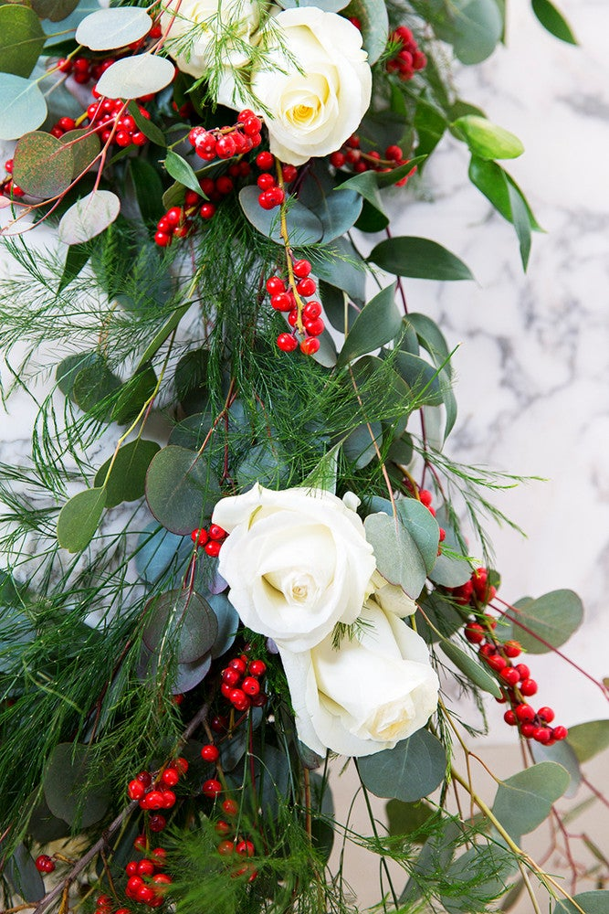 How to DIY a Garland for Your Holiday Tablescape