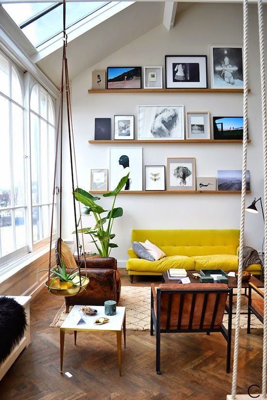 mixed-frames-ledge-gallery-wall