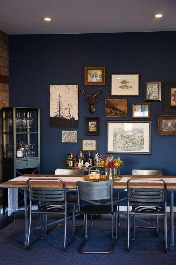 navy dining room walls photography by interiordecaboutcom navy blue dining room decor ideas domino