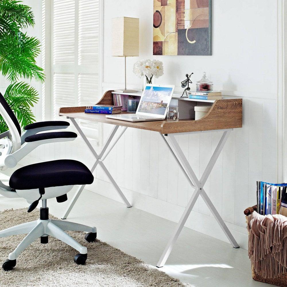 white-wood-desk-bedroom