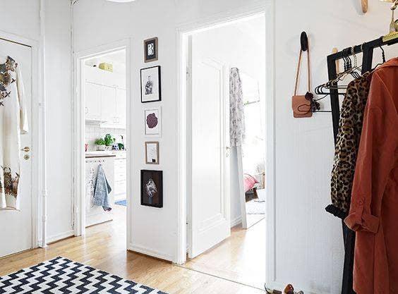 hallway-wall-ideas-slim-gallery-wall