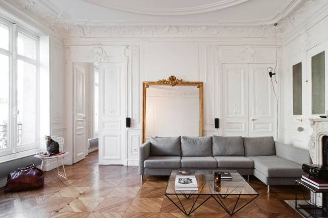 hallway-wall-ideas-leaning-mirrors